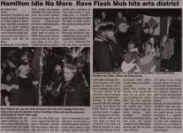 """Hamilton Idle No More Rave Flash Mob hits arts district"""