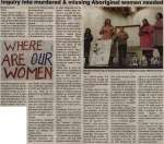 """Inquiry into murdered & missing Aboriginal women needed"""