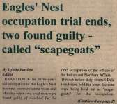 """Eagles Nest Occupation Trial Ends, Two Found Guilty - Called ""Scapegoats"""""