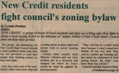 """New Credit Residents Fight Council's Zoning Bylaw"""