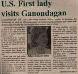 """U.S. First Lady Visits Ganondagan"""