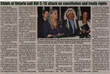 """""""Chiefs of Ontario call Bill C-10 attack on constitution and treaty rights"""""""