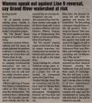 """""""Women speak out against Line 9 reversal, say Grand River watershed at risk"""""""