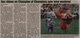 """Sun shines on Champion of Champions pow wow weekend"""