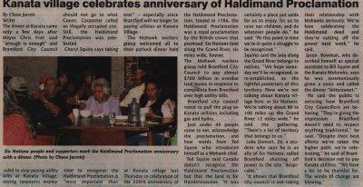 """Kanata village celebrates anniversary of Haldimand Proclamation"""