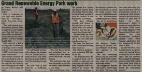"""Grand Renewable Energy Park work"""