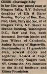 Ceiler, Ruby (née Burning) (Obituary)