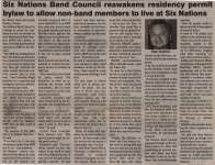 """Six Nations Band Council reawakens residency permit bylaw to allow non-band members to live at Six Nations"""