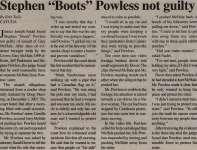 """Stephen 'Boots' Powless not guilty"""