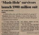 """'Mush-Hole' Survivors Launch $900 Million Suit"""