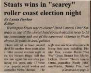 """""""Staats wins in """"scarey"""" roller coast election night"""""""