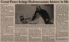 """""""Great Peace brings Hodenosaunne history to life"""""""