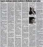 """Experts challenge western medicine in McMaster court action"""