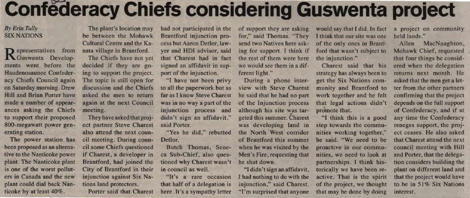"""""""Confederacy Chiefs considering Guswenta project"""""""
