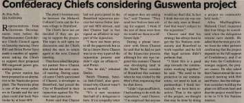 """Confederacy Chiefs considering Guswenta project"""
