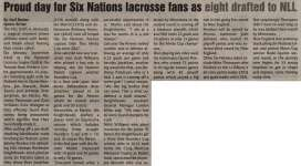 """""""Proud day for Six Nations lacrosse fans as eight drafted to NLL"""""""