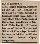 Skye, Johnson Jr. (Obituary)