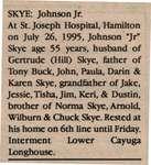 Skye, Johnson Jr. (Obituary)