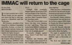 """IMMAC will return to the cage"""