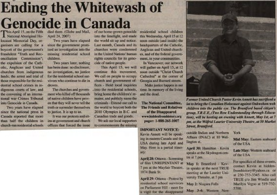 """""""Ending the whitewash of genocide in Canada"""""""