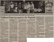 """Trillium Fund recognizes the Pageant"""