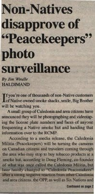"""Non-Natives disapprove of 'Peacekeepers' photo surveillance"""