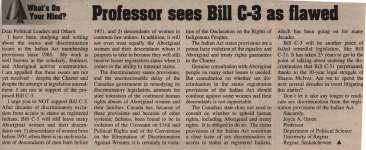 """Professor sees Bill C-3 as flawed"""