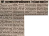 """HST compounds poverty and impacts on First Nation sovereignty"""