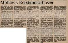 """Mohawk Rd Stand-Off Over"""