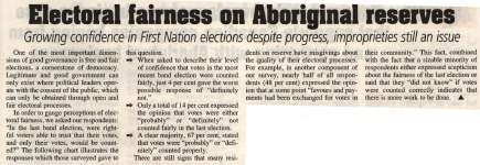 """Electoral fairness on Aboriginal reserves"""