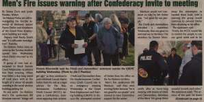 """Men's Fire issues warning after Confederacy invite to meeting"""