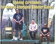 """Opening ceremonies for Ontario Aboriginal Summer Games"""