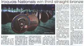 """Iroquois Nationals win third straight bronze"""