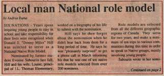 """Local man national role model"""