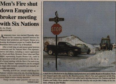 """Men's Fire Shut Down Empire-Broker Meeting with Six Nations"""