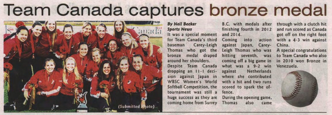 """Team Canada captures bronze medal"""