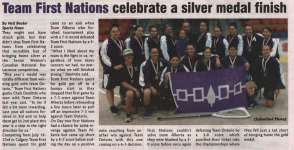 """Team First Nations celebrate a silver medal finish"""