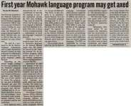 """First year Mohawk language program may get axed"""