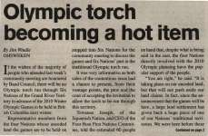 """Olympic torch becoming a hot item"""