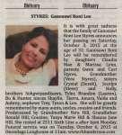 Styres, Ganosawi Roni Lee (Died)