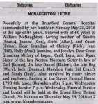 McNaughton, Leone (Died)