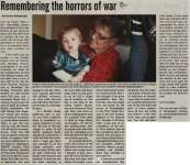 """Remembering the horrors of war"""
