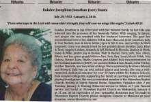 Jonathan, Eulalee Josephine (née Eulalee JosephineStaats) (Died)