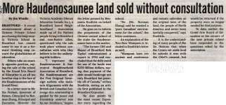 """More Haudenosaunee land sold without consultation"""