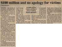 """""""$100 million and no apology for victims"""""""