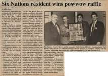 """Six Nations resident wins powwow raffle"""