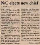 """N/C elects new chief"""