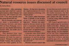 """Natural resources issues discussed at council"""