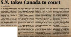 """""""S.N. takes Canada to court"""""""