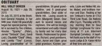 Hill, Violet Doreen (Died)
